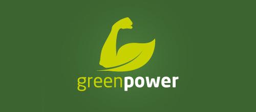 1-green-musle-arm-leaf-logo